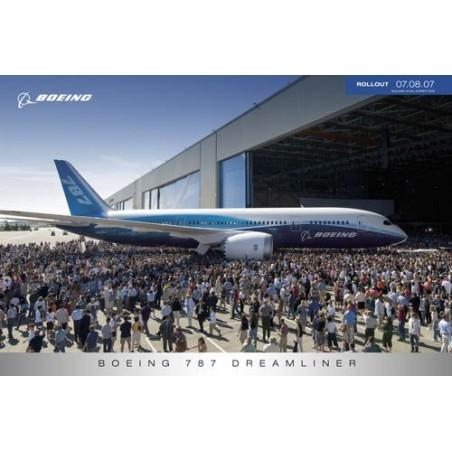 Plakát Boeing 787 Rollout