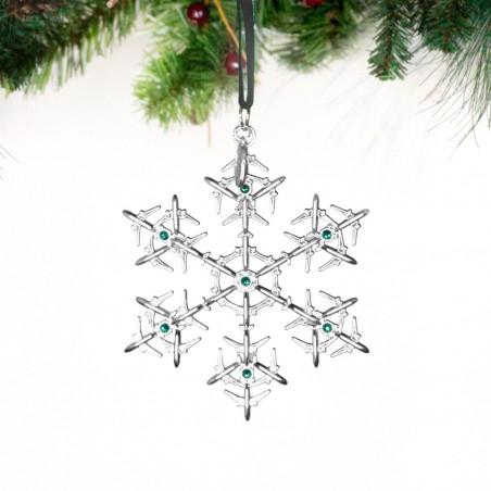 Ozdoba Boeing Jet Snowflake Swarovski® Ornament